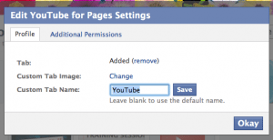 Edit Page Tab Settings in Facebook