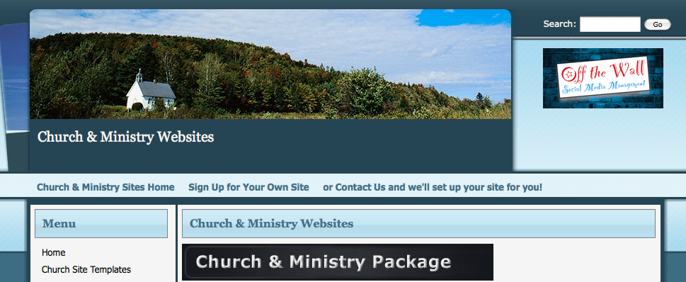 Off the Wall Church Websites