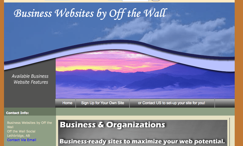 Off the Wall Business Websites