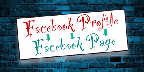 convert Facebook Profile to Page  - Off the Wall Social Media