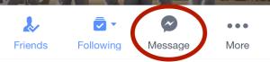 facebook Message icon - mobile